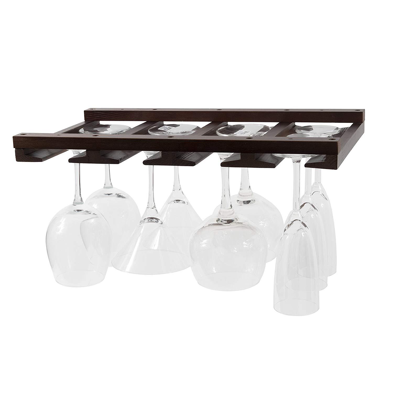 Wine Glass Rack w Wine Glasses | Wine glass rack, Glass